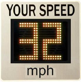 Morelock speed sign