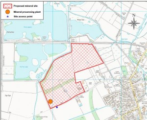 Swavesey Extraction Site Map