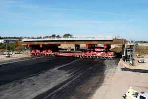 Bar Hill bridge installation